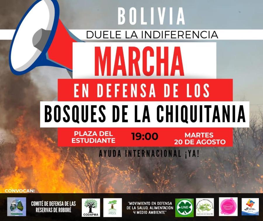Marcha en Defensa de los bosques de la Chiquitania