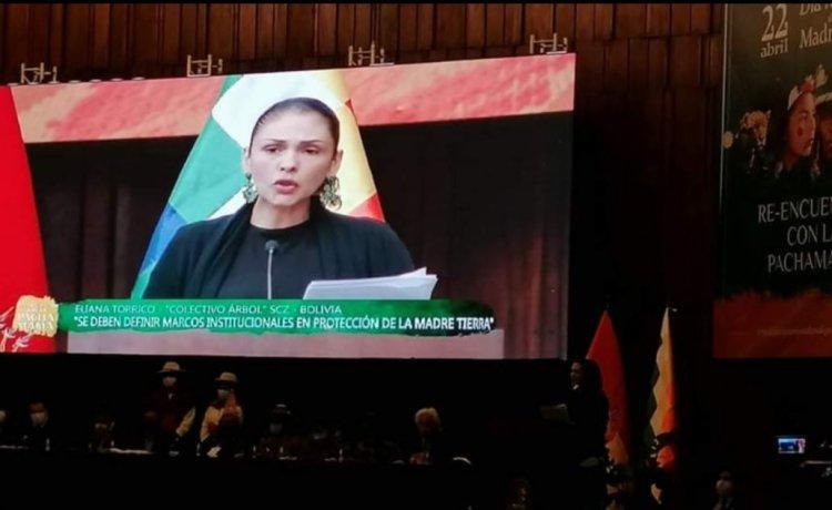 Día Mundial de la Madre Tierra 2021 Bolivia- Discurso de Eliana Torrico
